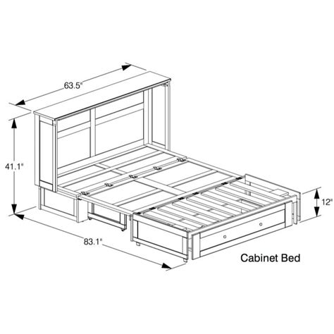 murphy bed dimensions clover murphy bed cabinet