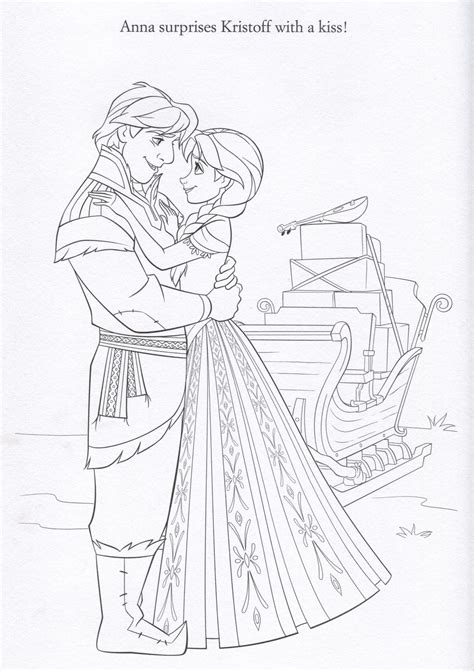 frozen coloring pages kristoff anna and kristoff coloring pages www imgkid com the