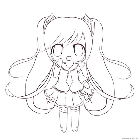 chibi cat coloring page chibi coloring pages cat girl coloring4free