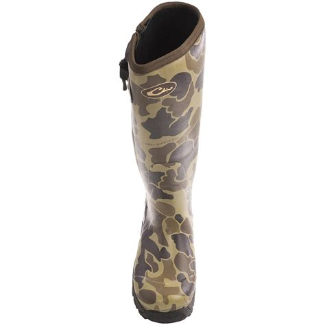 mst side zip camo knee high mudder rubber boots for