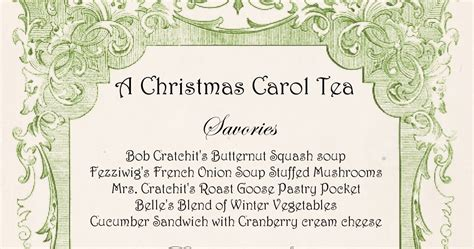 christmas tea menu be book bound a carol tea
