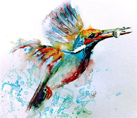 kingfisher painting by steven ponsford