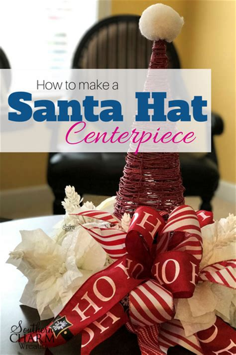 how to make a christmas santa hat centerpiece