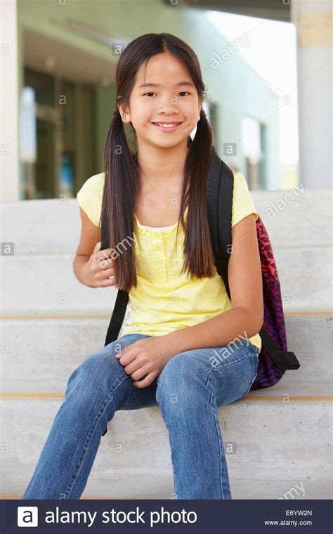 Preteen School Girl Photos | pre teen girl at school stock photo royalty free image