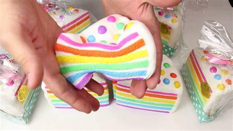 Squishy Rainbow Squishy Es Krim Squishy chawa rainbow cake squishy