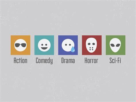 film genres movie genre icons by jesse geller dribbble