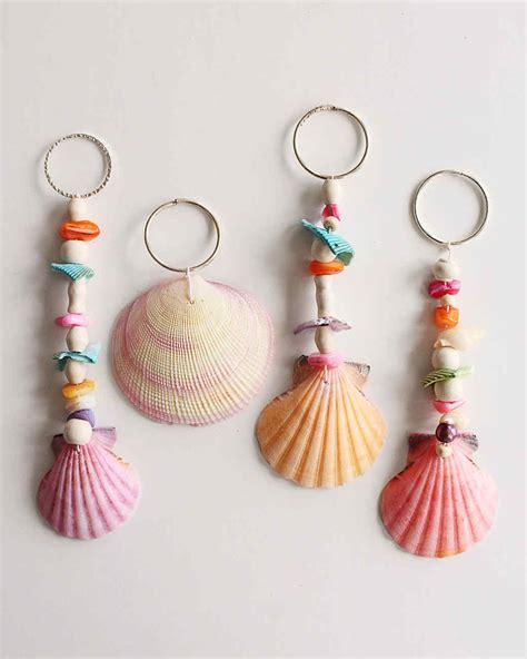 crafts seashell seashell keychains martha stewart