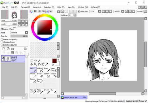 paint tool sai stabilizer the reader