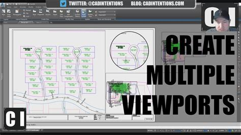 autocad add view layout autocad how to create viewports multiple views circle