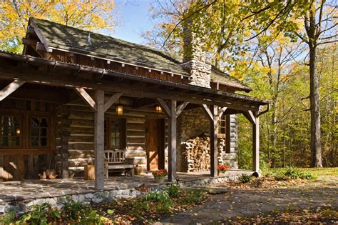 living blog rustic ontario log cabin