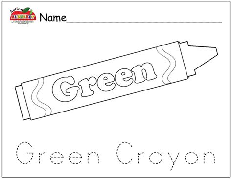 preschool coloring pages color green free coloring pages of green crayon