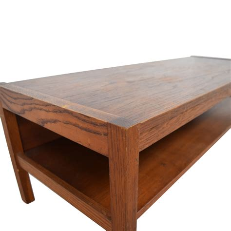 mid century wood coffee table 69 workbench workbench mid century wood coffee