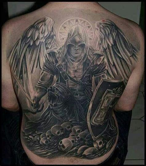 tattoo angel of death back piece tattoo angel of death wings skull tusch
