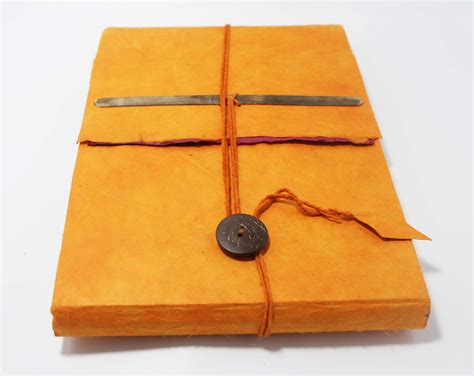 Handmade Paper Journal - handmade large journal notebook eco friendly lokta paper