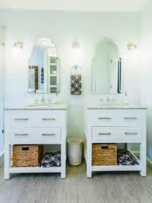 bathroom with two separate vanities photos hgtv