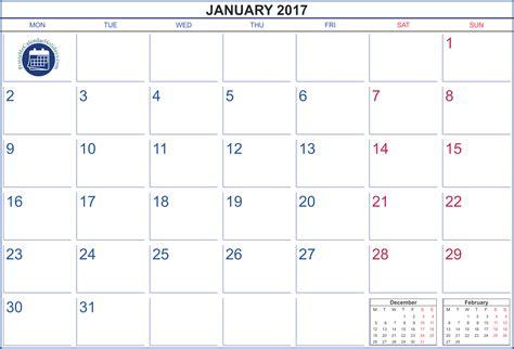printable january 2017 calendar 2017 calendar january printable printable 2017 calendar