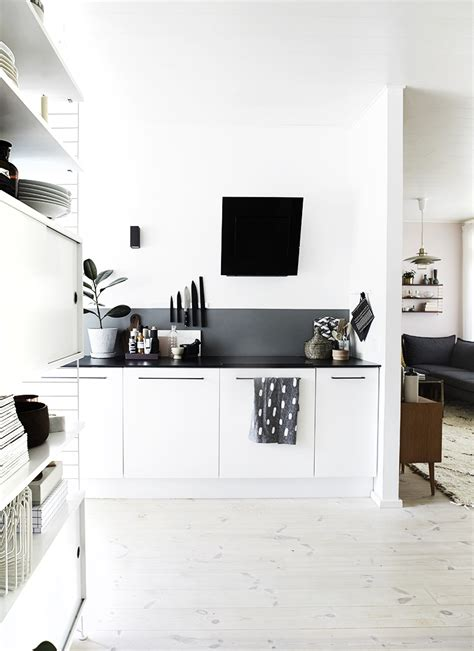 black white kitchen decordots 2013 november