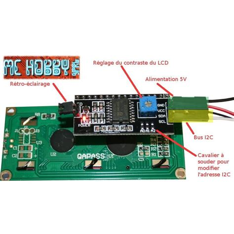 I2c Lcd Back Pack For Arduino backpack i2c pour lcd mchobby vente de raspberry pi