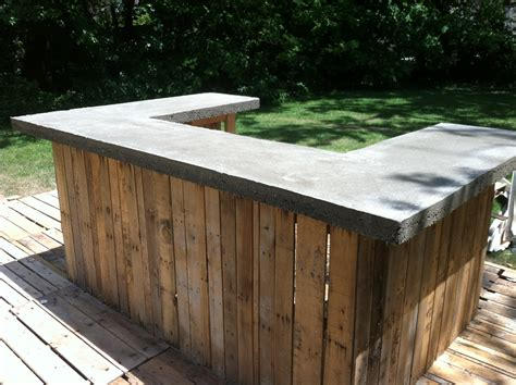 Outdoor Bar Tops by Concrete Bar Top On Outdoor Bar The Shack