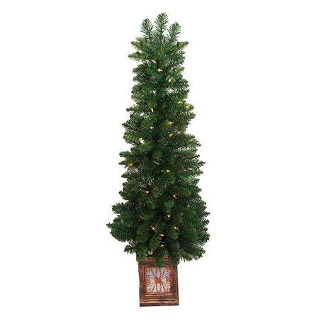 walmart decorative pine trees northlight 4 ft pre lit fancy potted pine artificial tree clear lights