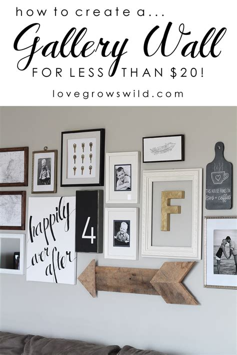 how to design a gallery wall diy canvas script art love grows wild