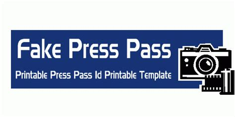 free press pass template press pass credentials print template fakedrnotes