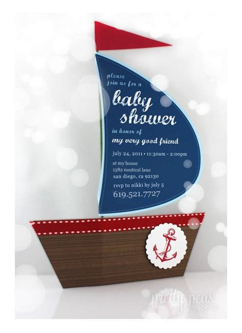 Diy Nautical Baby Shower Invitations by Items Similar To Diy Nautical Baby Shower Invitation