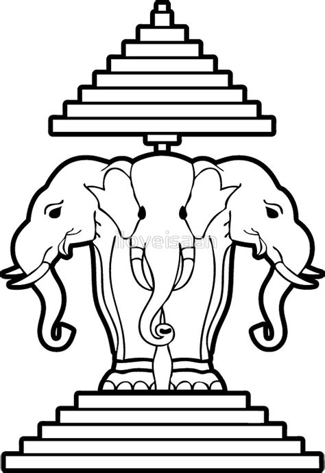 quot erawan lao laos three headed elephant quot stickers by