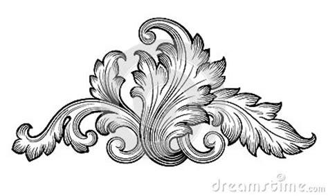 filigree clip art continue reading set of floral vintage baroque floral scroll ornament vector stock vector