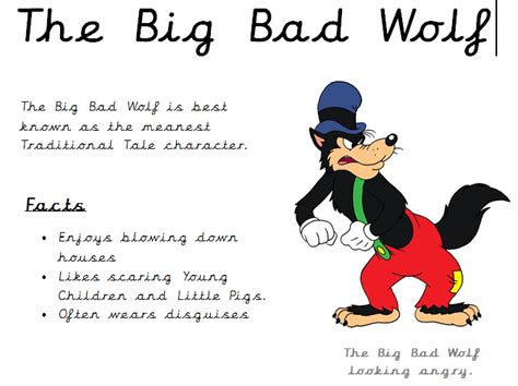 the big bad wolf non chronological report text by elinorburke teaching resources tes