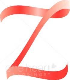 Z Wedding Clip by Letter Z Clipart Pink Ribbon Alphabet