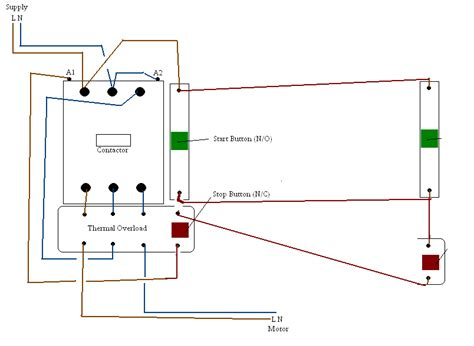 motor starter wiring diagram start stop motor automotive