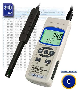 misuratore di umidit 224 relativa con memory card sd pce 313aa