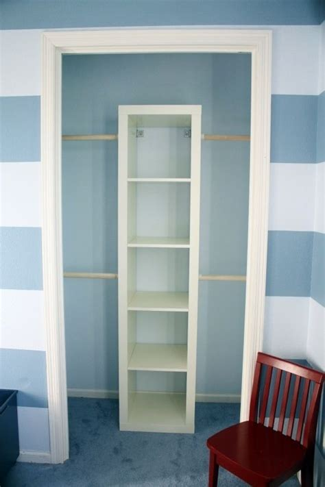 Tension Rods For Closets by Diy Closet Organizer Put It A Book Shelf And Add Tension Cutain Rods Keeps The Shelves In