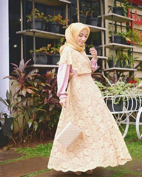 Gamis Muslim Stylish 18 model baju muslim remaja 2018 terbaru stylish casual
