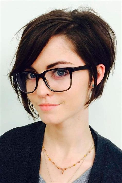hairstyles for round face with glasses 20 best collection of short hairstyles for round faces and