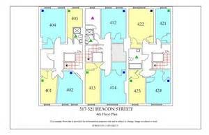 bu housing floor plans 517 521 beacon street 187 housing boston university