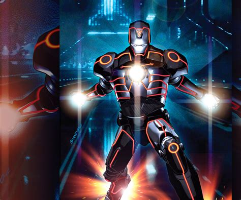Invincible Iron Man Tron Variant Android Wallpapers