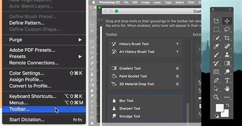 how to customize the toolbar in photoshop cc a sneak peek at the toolbar editing feature coming to