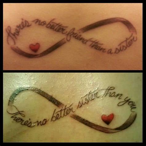 infinity sister tattoos infinity sayings tattoos