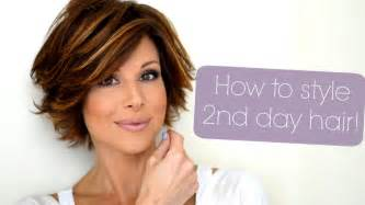 how to style the haircut styling tips for second third day hair youtube