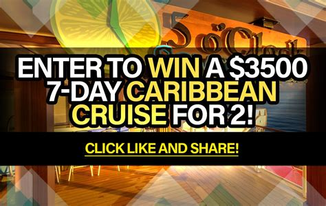 Sweepstake Entry - sweepstakes enter to win a 3500 7 day caribbean cruise for 2