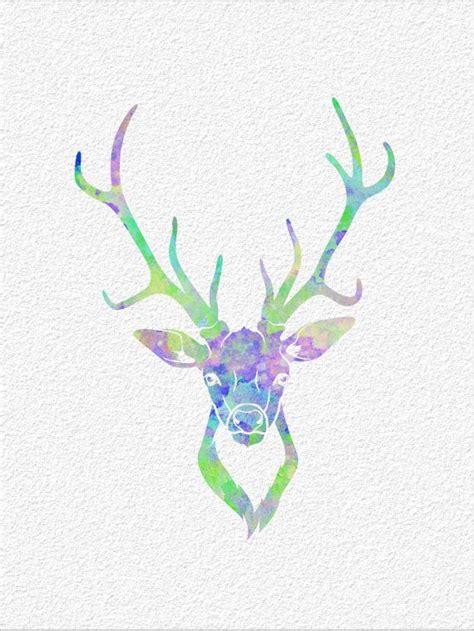 watercolor deer tutorial deer archival watercolor art print 5 x 7 by