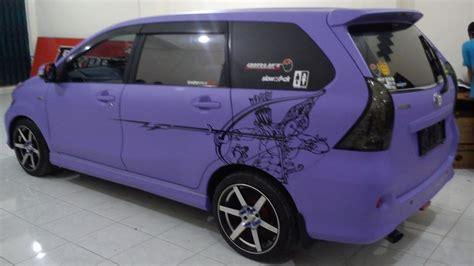 Sticker Stiker Mobil Dinding Serigala pemasangan stiker mobil fullbody dengan stiker jenis doff purple