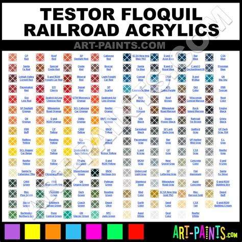 floquil railroad acrylic paint colors floquil railroad paint colors railroad color railroad