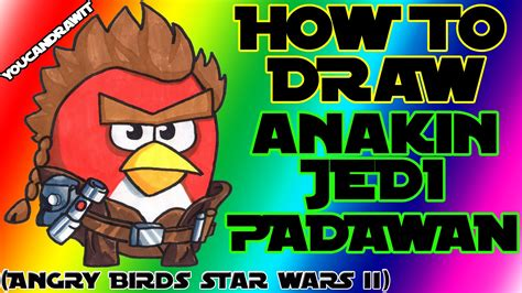 angry birds wars doodle activity annual 2013 how to draw anakin skywalker jedi padawan from angry birds