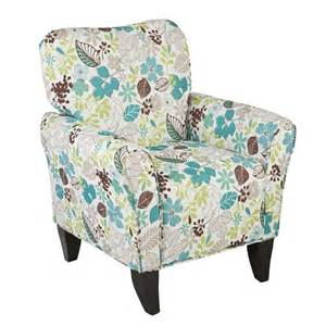 Upton home margo teal floral upholstered arm chair