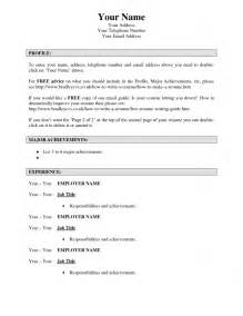 Make Your Resume by Make A Resume Resume Cv Exle Template