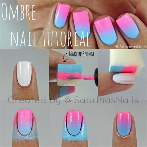 Nagel Tutorial sabrinas nails ombre nail tutorial
