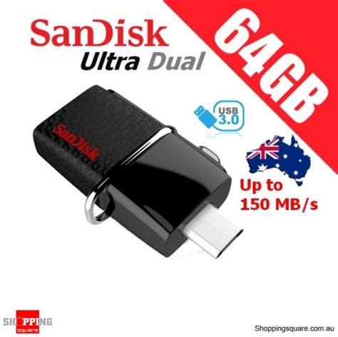 Sandisk Dual Otg sandisk 64gb ultra dual otg usb drive 3 0 shopping shopping square au